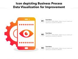 Icon Depicting Business Process Data Visualization For Improvement
