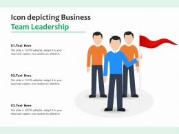 Icon Depicting Business Team Leadership