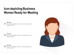Icon Depicting Business Woman Ready For Meeting