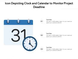 Icon Depicting Clock And Calendar To Monitor Project Deadline