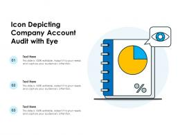 Icon Depicting Company Account Audit With Eye