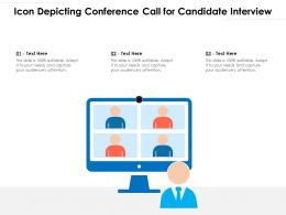 Icon Depicting Conference Call For Candidate Interview
