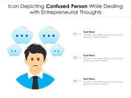 Icon Depicting Confused Person While Dealing With Entrepreneurial Thoughts
