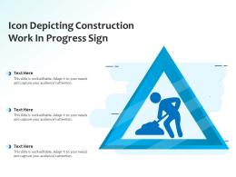 Icon Depicting Construction Work In Progress Sign