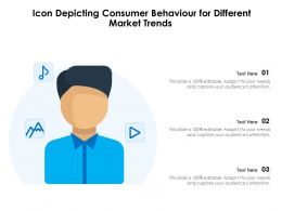 Icon Depicting Consumer Behaviour For Different Market Trends