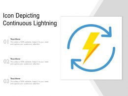 Icon Depicting Continuous Lightning