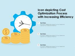 Icon Depicting Cost Optimization Process With Increasing Efficiency