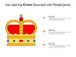Icon Depicting Crown Decorated With Multiple Jewels