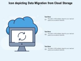 Icon Depicting Data Migration From Cloud Storage