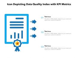 Icon Depicting Data Quality Index With KPI Metrics