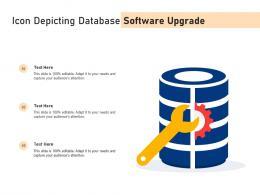 Icon Depicting Database Software Upgrade