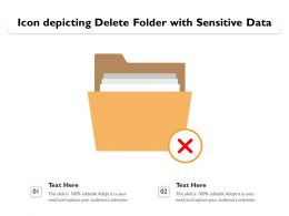 Icon Depicting Delete Folder With Sensitive Data