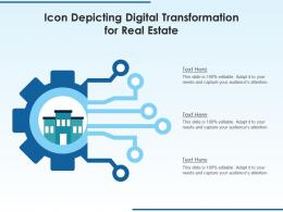 Icon Depicting Digital Transformation For Real Estate