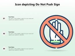 Icon Depicting Do Not Push Sign