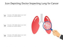 Icon Depicting Doctor Inspecting Lung For Cancer