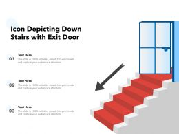 Icon Depicting Down Stairs With Exit Door
