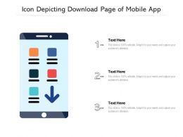 Icon Depicting Download Page Of Mobile App