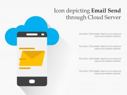 Icon Depicting Email Send Through Cloud Server