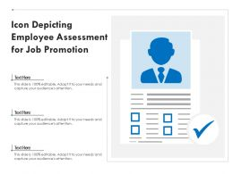 Icon Depicting Employee Assessment For Job Promotion