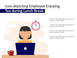 Icon Depicting Employee Enjoying Tea During Lunch Break
