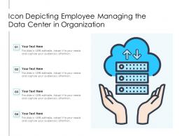 Icon Depicting Employee Managing The Data Center In Organization