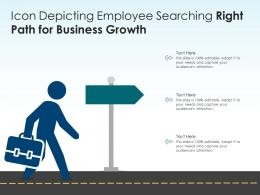 Icon Depicting Employee Searching Right Path For Business Growth