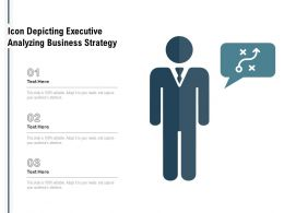 Icon Depicting Executive Analyzing Business Strategy