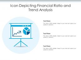 Icon Depicting Financial Ratio And Trend Analysis