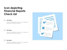 Icon Depicting Financial Reports Check List