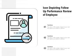 Icon Depicting Follow Up Performance Review Of Employee