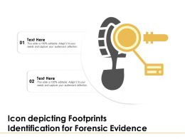 Icon Depicting Footprints Identification For Forensic Evidence