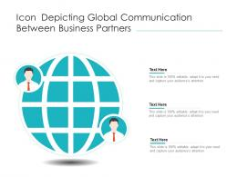 Icon Depicting Global Communication Between Business Partners