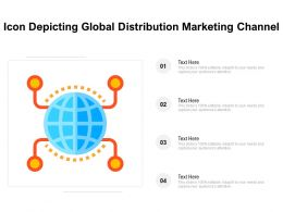 Icon Depicting Global Distribution Marketing Channel