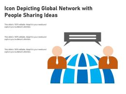 Icon Depicting Global Network With People Sharing Ideas