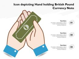 Icon Depicting Hand Holding British Pound Currency Note