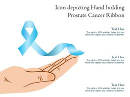 Icon Depicting Hand Holding Prostate Cancer Ribbon