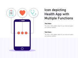 Icon Depicting Health App With Multiple Functions