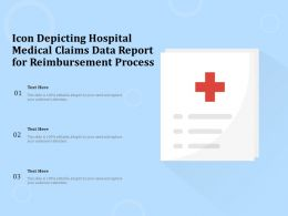 Icon Depicting Hospital Medical Claims Data Report For Reimbursement Process