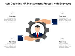 Icon Depicting HR Management Process With Employee