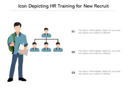 Icon Depicting HR Training For New Recruit