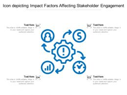 Icon Depicting Impact Factors Affecting Stakeholder Engagement