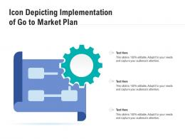 Icon Depicting Implementation Of Go To Market Plan