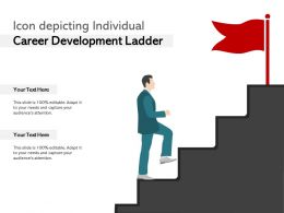 Icon Depicting Individual Career Development Ladder