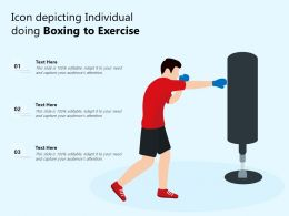Icon Depicting Individual Doing Boxing To Exercise