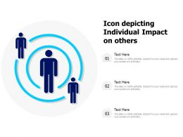 Icon Depicting Individual Impact On Others