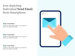 Icon Depicting Individual Send Email From Smartphone