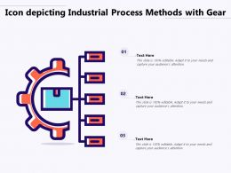 Icon Depicting Industrial Process Methods With Gear