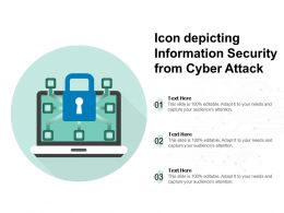 Icon Depicting Information Security From Cyber Attack
