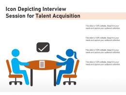Icon Depicting Interview Session For Talent Acquisition