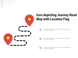 Icon Depicting Journey Road Map With Location Flag